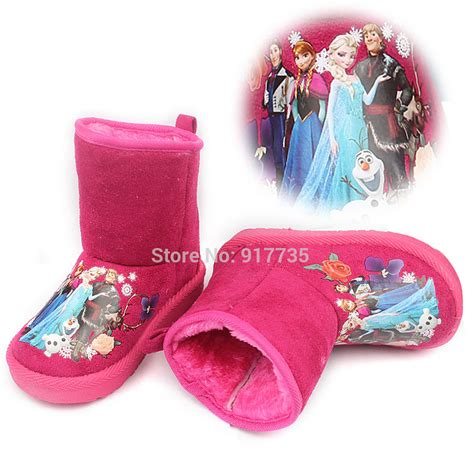 pink winter boots 2015 winter children snow boots pink elsa princess