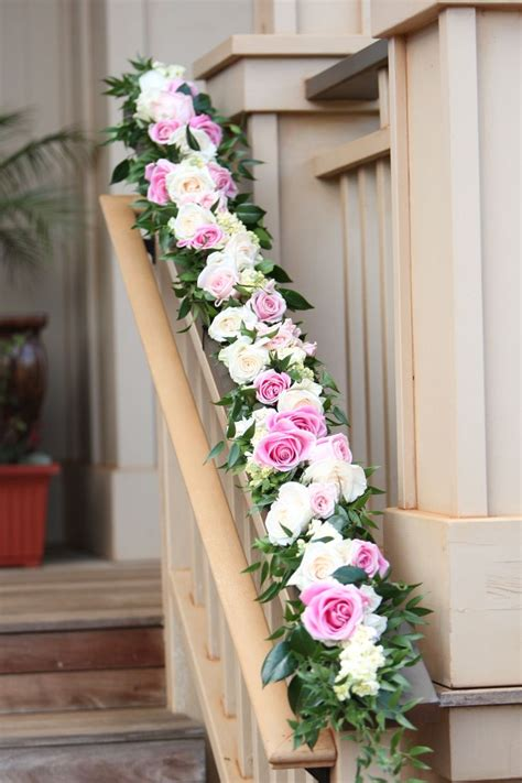 banisters flowers 10 images about wedding staircases decor on pinterest