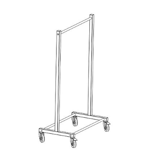 porta grucce carrello portagrucce portabiti in acciaio inox metalpharm