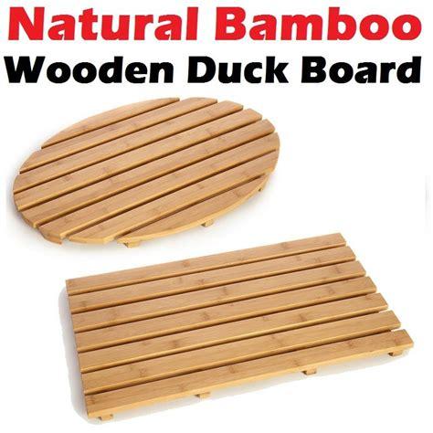 Wooden Duckboard Bath Mat by Bamboo Wood Wooden Bathroom Shower Duck Board