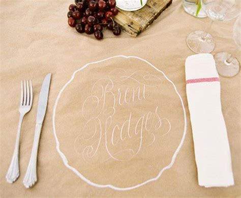 Paper Craft Ideas For Weddings - unique place settings