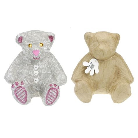 How To Make Teddy With Paper - paper mache medium teddy ma102 crafts