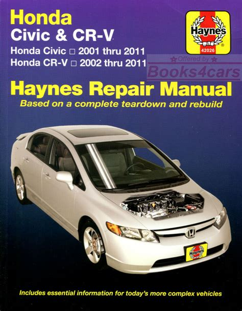 manual repair free 2001 honda civic spare parts catalogs honda crv shop manual service repair book haynes workshop guide chilton ebay