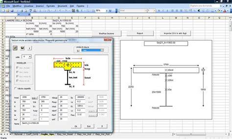 Steel Beam Design Spreadsheet by Semi Automatic Design Of Composite Bridges