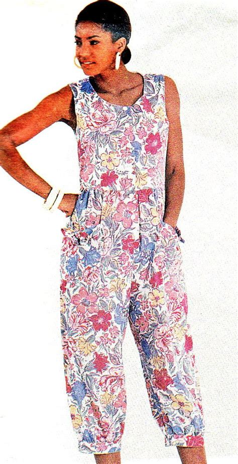 dress pattern jumpsuit 1990s womens jumpsuit or dress pattern mccalls 4824 front