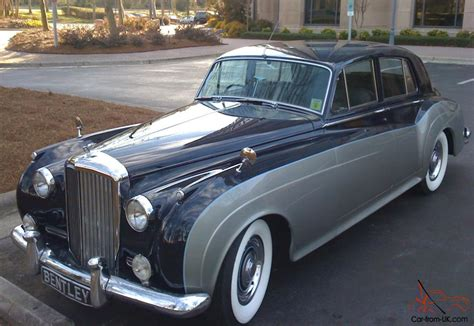grey bentley bentley saloon1 1958 blue grey
