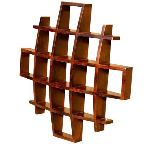 Hanging Wall Shelves Contemporary Wood Display Wall Hanging Shelves Home Decor