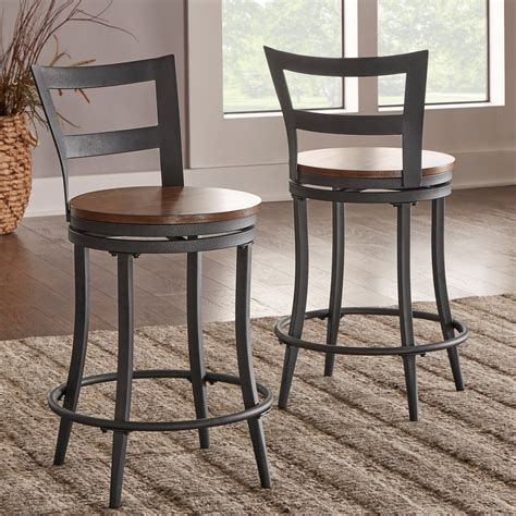 Contemporary Counter Height Swivel Bar Stools by Homelegance Selbyville Contemporary Counter Height Chair