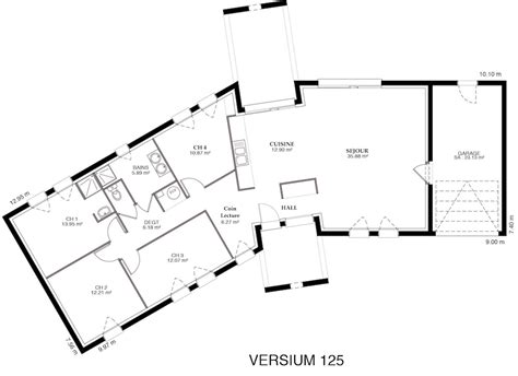 Plan Maison En V 4804 by Versium Maison Contemporaine En V