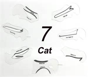 Winged Eyeliner Template by Winged Eyeliner Stencil Guide No Mess Cat