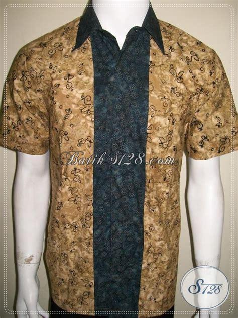 Koleksi Kemeja Terbaru Kemeja Pendek Navy Best Seller koleksi terbaru trend baju batik pria 2014 kemeja batik lengan pendek kombinasi lebih mewah
