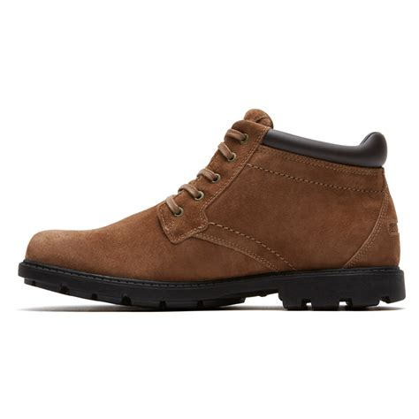 rugged chukka boots rockport rugged bucks waterproof chukka boot in brown for lyst