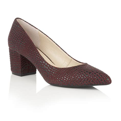 lotus burgundy croc print court shoes shoes from