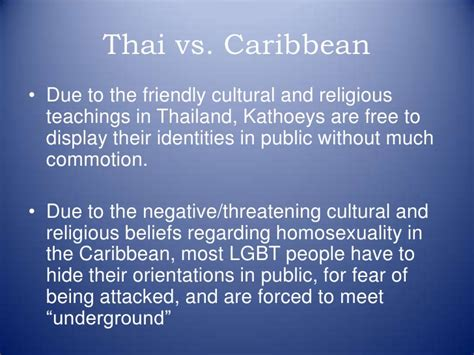 themes in caribbean literature lgbt in thailand and caribbean