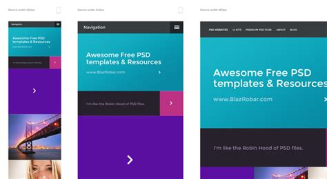 template photoshop responsive responsive psd template