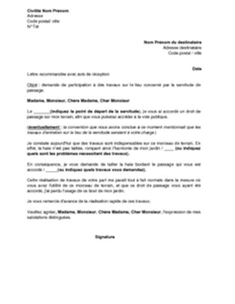 Demande De Travaux Lettre Application Letter Sle Modele De Lettre Demande De Travaux