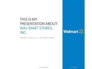 wal mart powerpoint template presentationgo