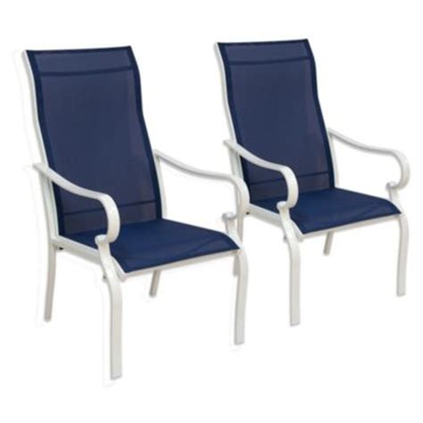 Blue Sling Patio Chair Buy Set Of 2 Sling Chair From Bed Bath Beyond