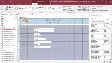 cara membuat query database access tutorial cara membuat form dan report database dengan ms