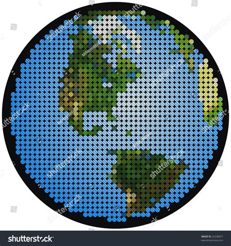 mosaic hatch pattern mosaic of earth with cross hatching stock vector