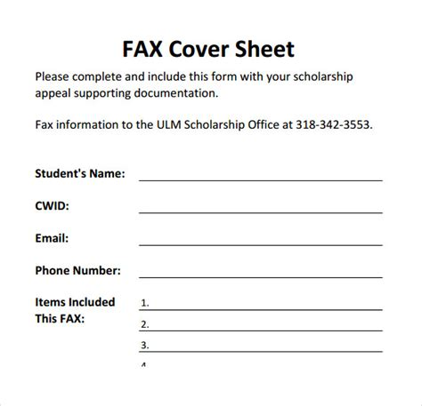 sle printable fax cover sheet 17 free documents in