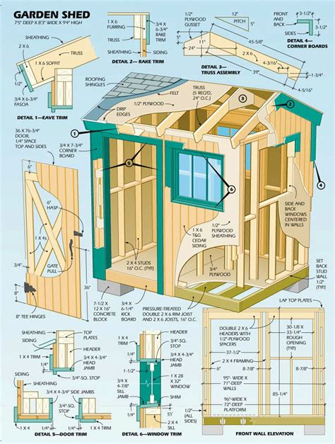 shed diagrams garden shed plans step by step with diagrams