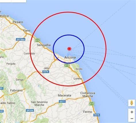 meteo camerano terremoto marche scossa avvertita oggi ad ancona
