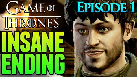 of thrones telltale ending episode 1