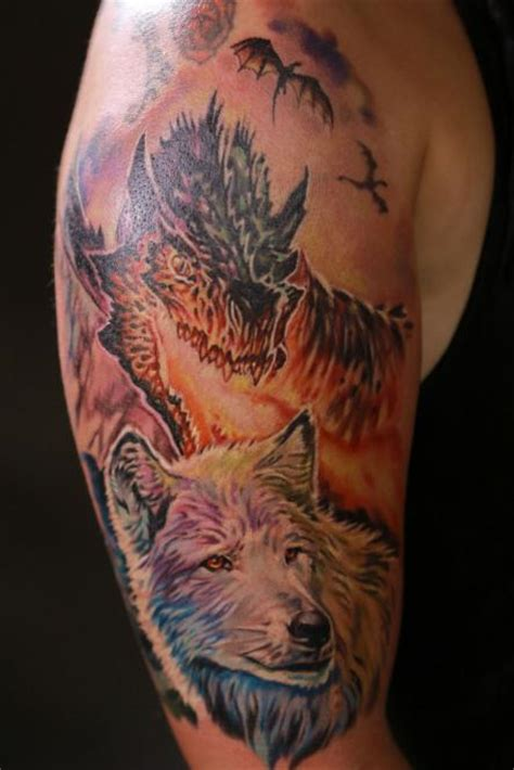 dire wolf tattoo pin dire wolf on