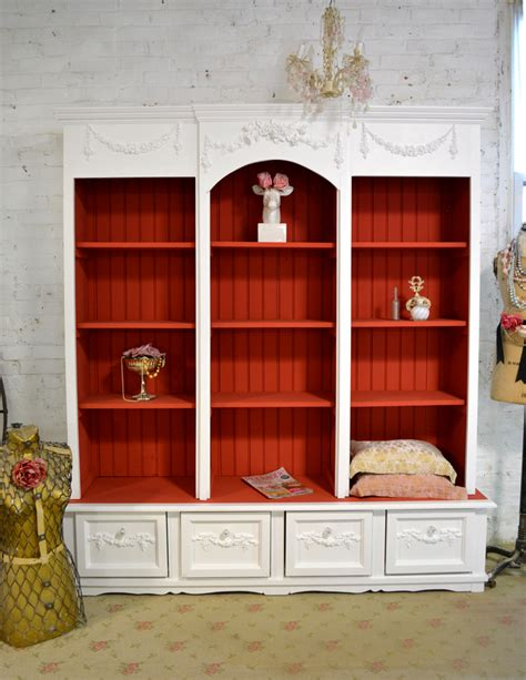 Bookcase With Cabinet Shabby Chic China Cabinet