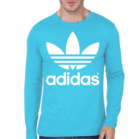 light blue adidas shirt adidas light blue full sleeve t shirt swag shirts