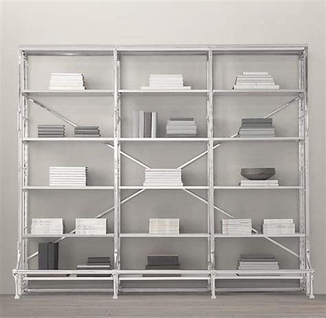 Stainless Steel French Library Triple Shelving Stainless Steel Bookshelves