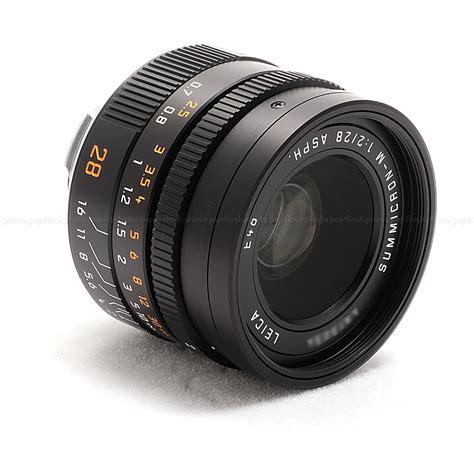 leica usa leica 28mm f 2 asph summicron m black 6 bit coded lens