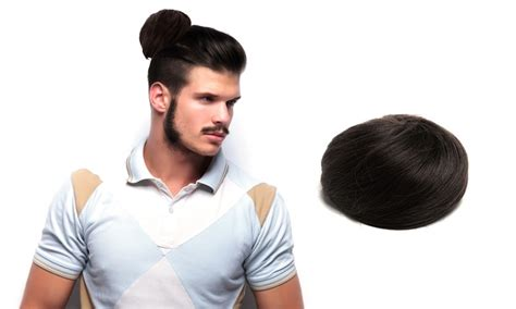 how to grow the man bun the clip in man bun gives men an instant bun without the