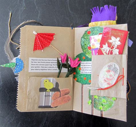 How To Make Paper Bag Books - continuing with brown paper bag book randomrose