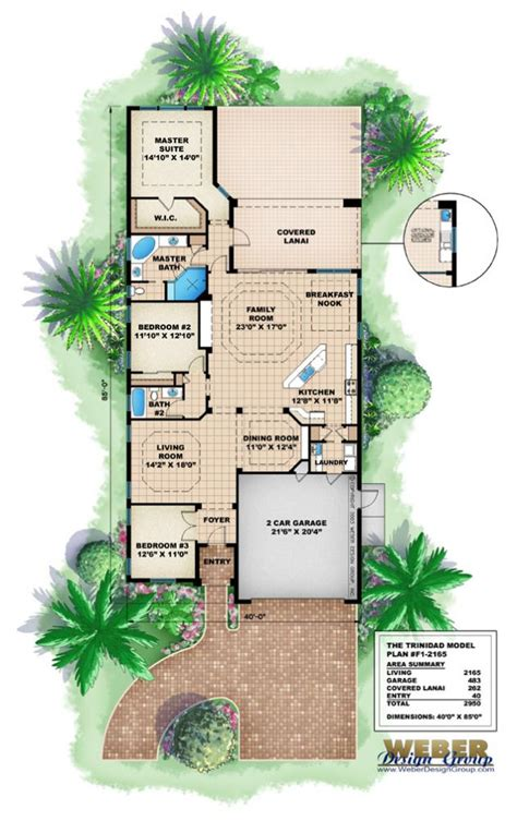 house plans home narrow beach design small lot