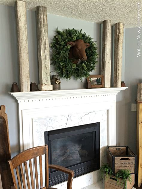 farmhouse fireplace mantel rustic farmhouse mantel balsam hill giveaway