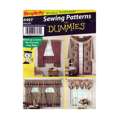 sewing cafe curtains instructions window treatments sewing pattern valances drapery panels