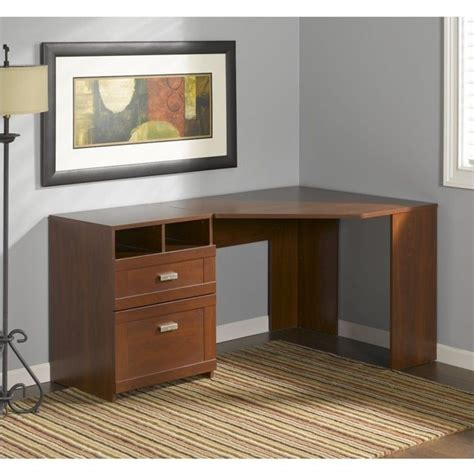 bush furniture wheaton reversible corner desk bush wheaton reversible corner desk in hansen cherry