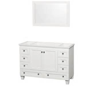 bathroom vanity no sink wyndham collection wcv800048swhcxsxxm24 acclaim 48 inch