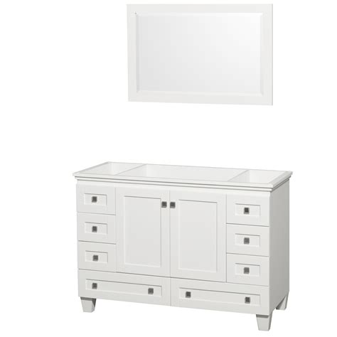 Bathroom Vanity No Sink Wyndham Collection Wcv800048swhcxsxxm24 Acclaim 48 Inch Single Bathroom Vanity In White No
