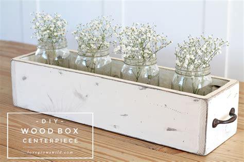 DIY Wood Box Centerpiece   Love Grows Wild