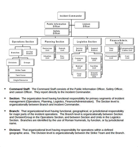 sle ics organizational chart 8 documents in pdf