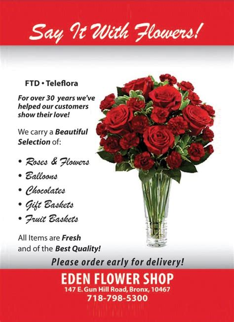 valentines day flower sale flower shop s day 2012 ad featured in