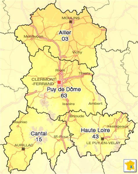 Location Auvergne particulier carte Auvergne
