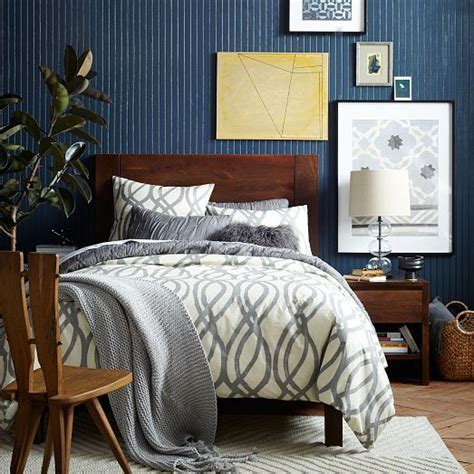 west elm bedrooms the solid wood boerum bed frame merges laid back country