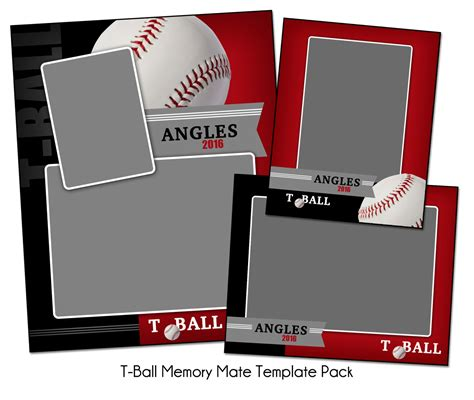 memory mate templates for photoshop t ball pack b memory mate sports photo templates digital