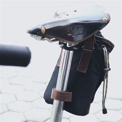 Tas Import Limited Yellow Brown tas sepeda saddle bag bike bag cycle bag tas sepeda