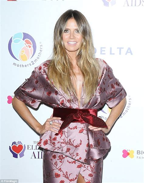 44 year old style heidi klum shows off toned and tanned legs beverly hills