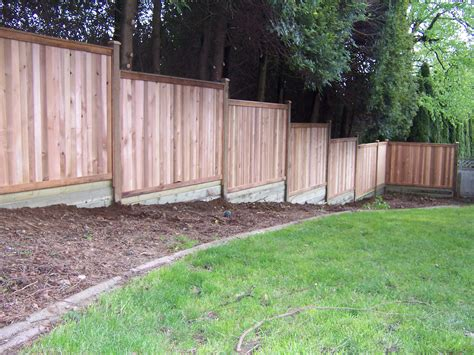 building a backyard fence privacy fence building build a fence on sloped ground